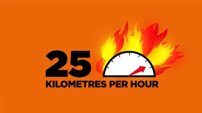 Bushfire fact - Bushfire speed