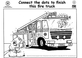 MFS Educational Resource - Puzzle sheet - Connect the dots fire truck