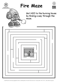 MFS Image - Puzzle sheet - Fire Maze - get H20 to the house