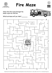 MFS Image - Puzzle sheet - Fire Maze - steer the truck