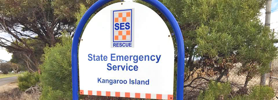 Sign outside the SA State Emergency Service Kangaroo Island Unit