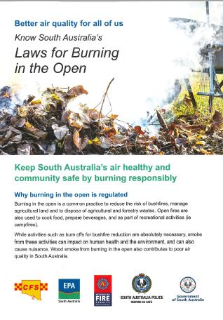 Laws for burning in the open