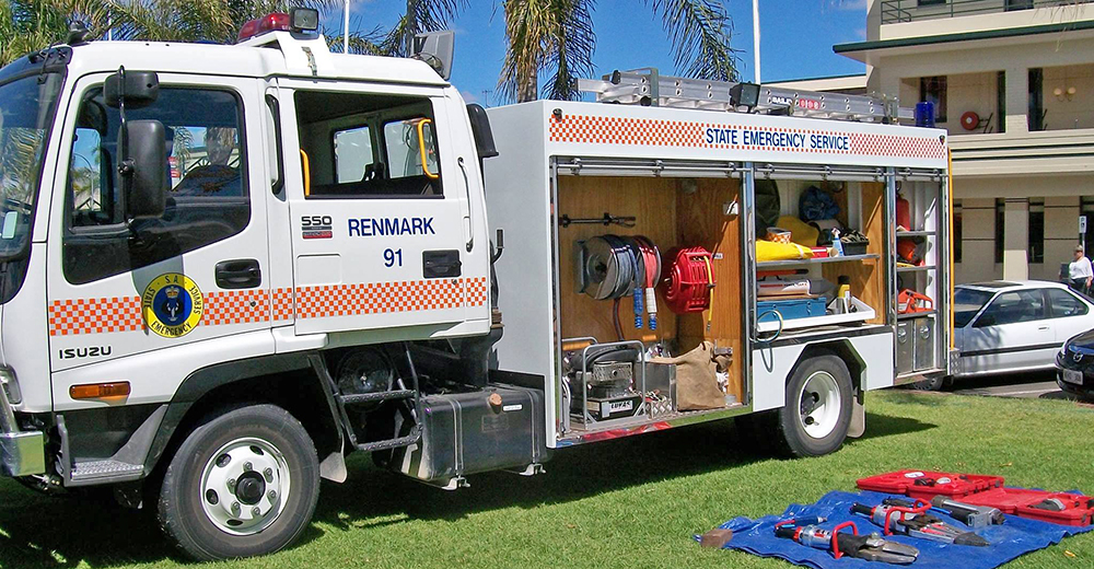 SA State Emergency Service Renmark and Paringa Unit rescue truck