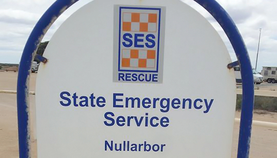 Sign outside the SA State Emergency Service Nullarbor Unit