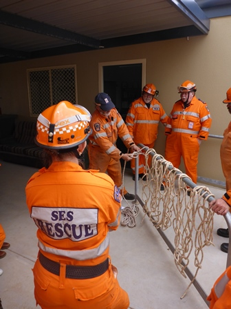 Tumby Bay Unit members at 'Rescue Operations Training' 2014