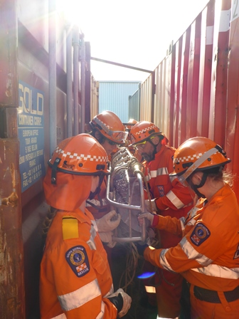 Tumby Bay Unit members, and cadets at 'Rescue Operations Training' 2014