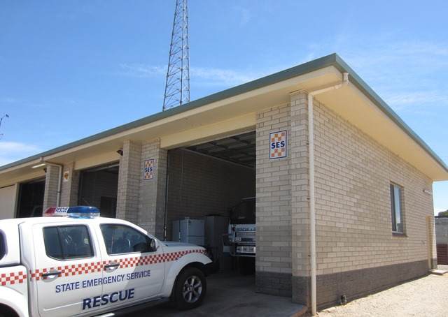 Kimba SES unit, in the Flinders-Gulf district, located on Cross Street, Kimba, 5641