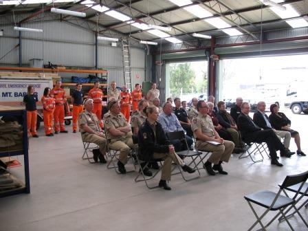 9 November 2013 speeches at the official opening of Mt Barker SES Unit