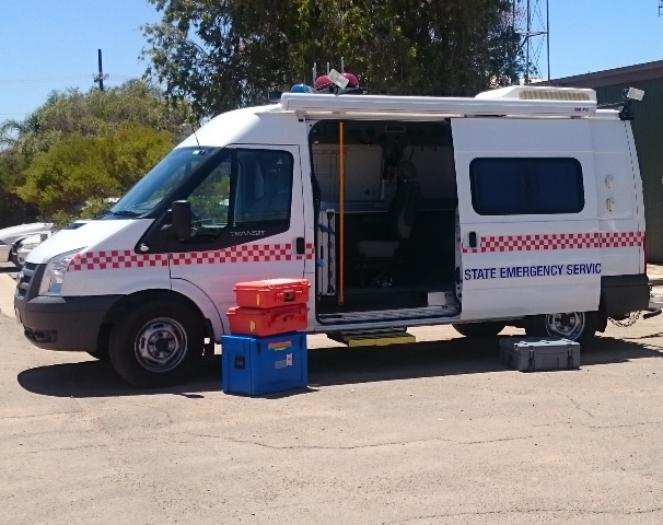Riverland 71 Communications vehicle - Located at Riverland Operations and Support unit, Berri.  Make: Ford, Model: Transit, Built: 2010