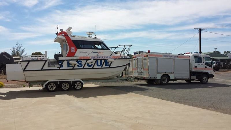 SES - Vessel - Sea Angel and trailer - Pt Pirie